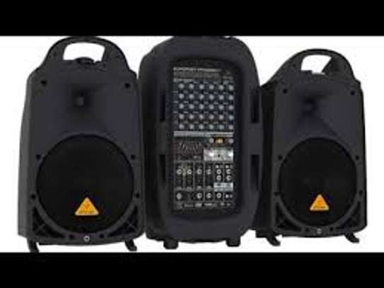 BEHRINGER, 8 PPA2000BT Ultra-Compact 2000-Watt 8-Channel Portable Pa System with Bluetooth Wireless Technology Black image 1