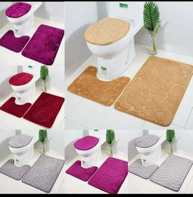 3pc Nonslip Sunction Bathroom mat image 1