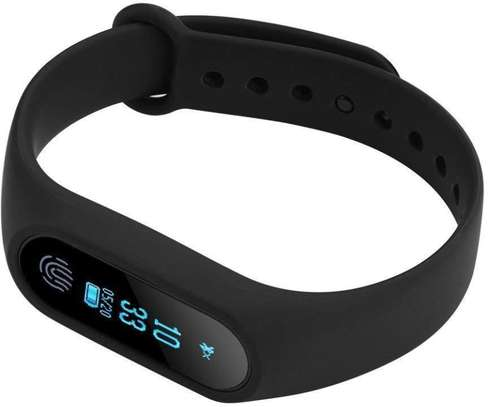 M2 Plus Smart Bluetooth Bracelet Fitness Tracker Band With Steep Counter Heart Rate Monitor Waterproof  for Android IOS image 3
