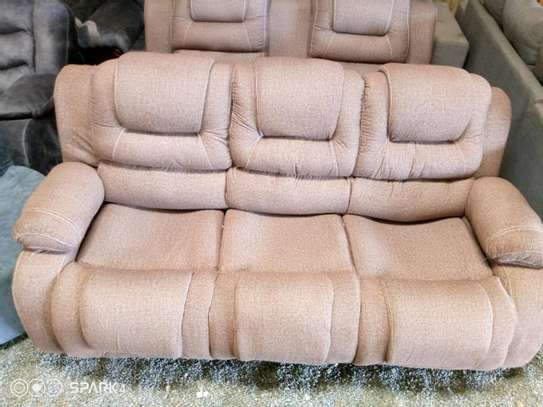 A new 3 seater recliner sofa(brown) image 1
