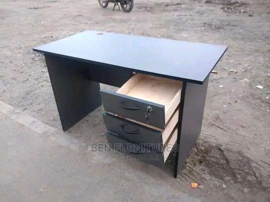 Spacious convenient office table with 3 RHS drawers image 1