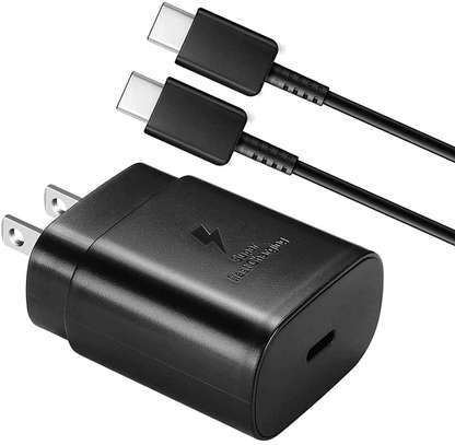 Original Samsung Super Fast Charge 25W UK Plug Travel Adapter with Type-C to USB C Cable for Samsung S20/S20+/S20 Ultra,S21/S21+/S21 Ultra Note 20/Note 20 Ultra image 3