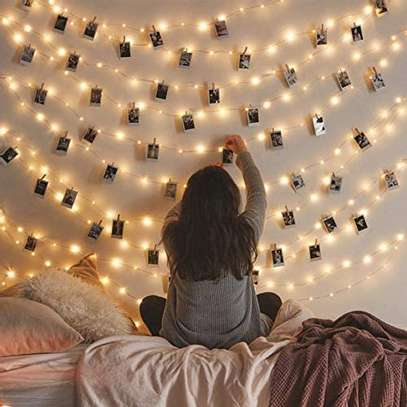 Bedroom Decor, Wall Decor, USB Powered, Bendable Copper Twinkle Lights, Indoor Outdoor Use image 1