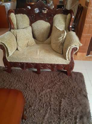 8-Seater Quality Mahogany Artic-Sofas For Sale. image 3