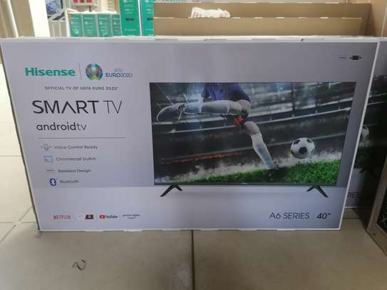 Hisense 40 inch smart android A6200f frameless TV image 1