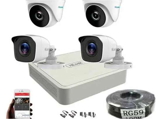 Four 4 CCTV Cameras Complete Security System Kit Package image 1