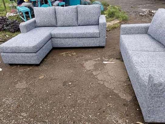 Beautiful Quality 5 Seater Corner Seat + 3 Seater Sofa image 1