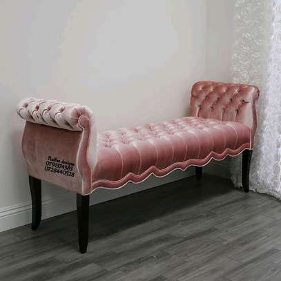Modern pink chesterfield bench/modern sofas image 1