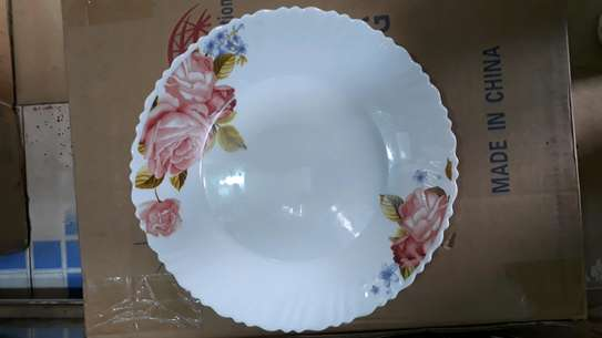 6pc square dinner plate/Round dinner plate/Glass plate/Flowered plates image 8