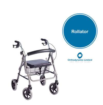 Four Wheels folding Lightweight Rollator Walker​ (Aluminum Walking Aid Walker Rollator with shopping basket) image 1