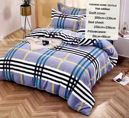 duvet cover stripped blue and white image 1