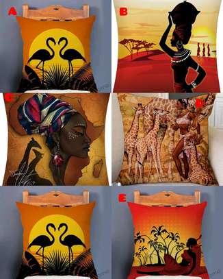 African throw pillow image 3