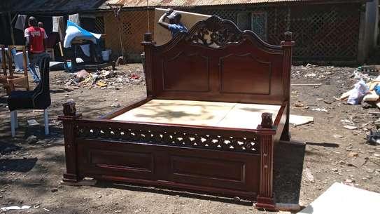 Solid mahogany bed image 2
