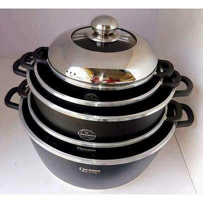10 Pieces Dessini Non-Stick Cooking Set Pots image 2
