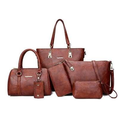 6in1 brown handbags D image 1