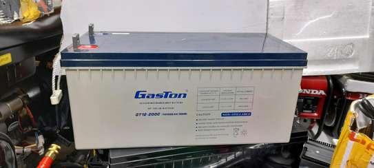 Gaston sealed maintainance free solar battery 12v 200ah 20hr image 1