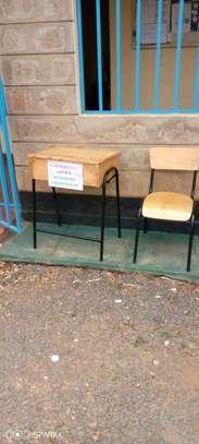 School desk and lockers image 1
