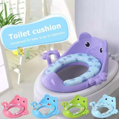 Kids Toilet Training Seat Guard- Thick, Comfortable & Soft Padded image 1