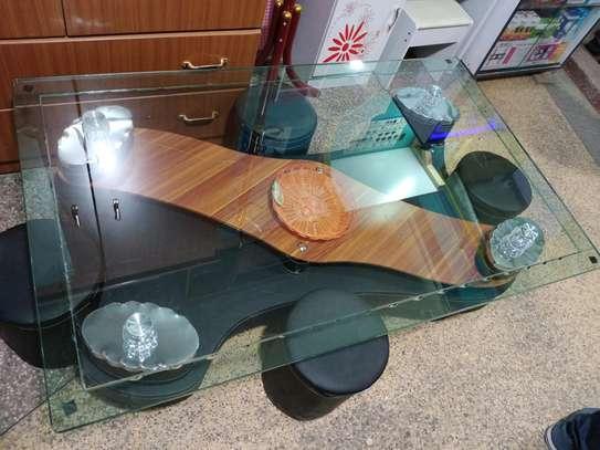 Glass coffee table image 1