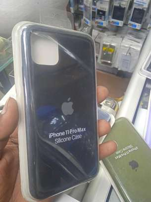 Iphone 11 Pro Max Silicon Covers(Original Black Cases)+Delivery image 1