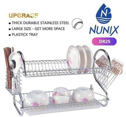 nunix 2 tier dish rack image 1