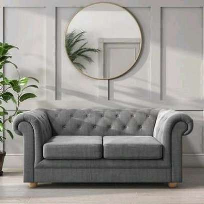 Grey two seater chesterfield sofas for sale in Nairobi Kenya/Quality and affordable sofas image 1