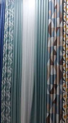cheap European patterned fabric curtain and sheers image 5