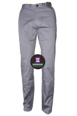Grey Tommy Hilfigure Slim Fit Khaki Trouser