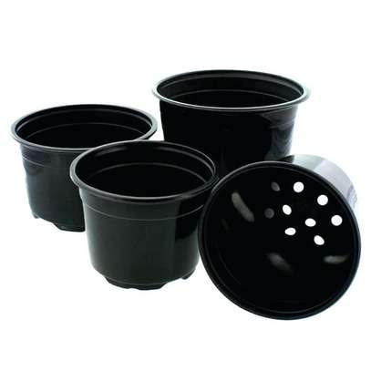 Reusable/Recyclable  Plastic Plant Seedling Flower Pots - 10 Pcs image 1
