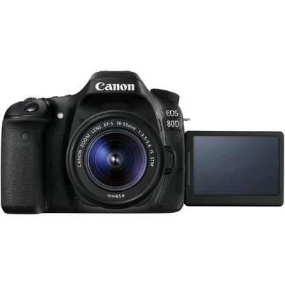 24.2MP APS-C CMOS SensorDIGIC 7 Image Processor3.0″ 1.04m-Dot Vari-Angle TouchscreenFull HD 1080p Video Recording at 60 fps45-Point All Cross-Type Phase-Detect AFDual Pixel CMOS AFUp to 6 fps Shooting and ISO 51200Built-In Wi-Fi with NFC, BluetoothHDR Movie and Time-Lapse MovieEF-S 18-55mm f/4-5.6 IS STM Lens image 3