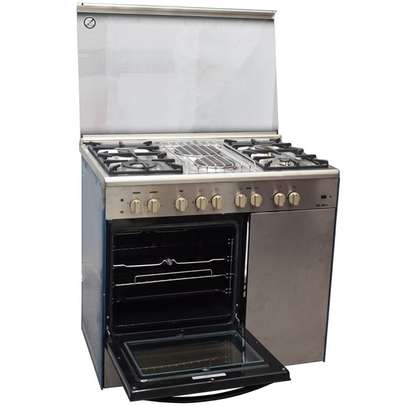GAS+ 2 ELECTRIC + GAS COMPARTMENT STAINLESS STEEL ELBA COOKER- EB/165 image 2