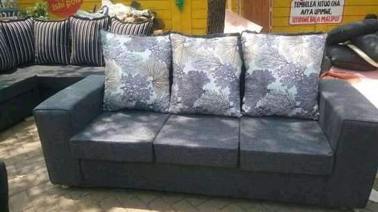 Ready Made Simple Modern 3 Seater Sofa image 1
