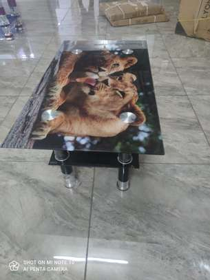 Glass coffee table image 1