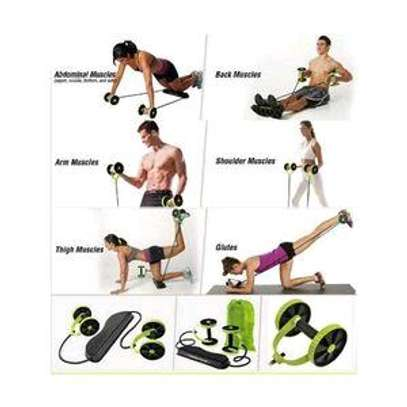 Revoflex Xtreme Abs Roller Fitness Exercise Trainer - Green & Black  Brand image 1