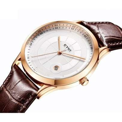 Eyki Gold Bezel Brown Straps Elegant Watch E1070L – Gold Brown