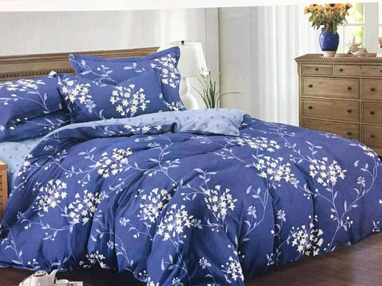 Blue -flowered cotton duvet image 1
