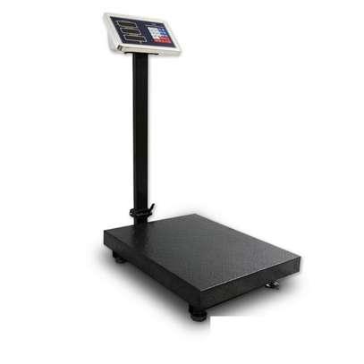 300kg 660lb LCD Digital Floor Platform Scale Electronic for Postal Super Market image 1