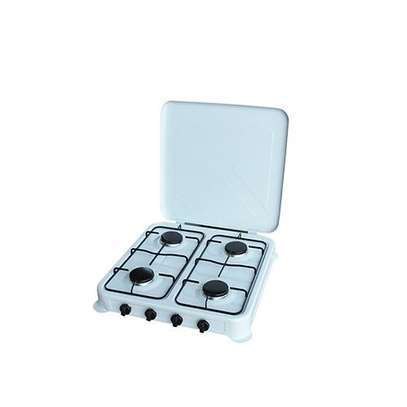 Deluxe 4 Burner Gas Stove Table Top - White