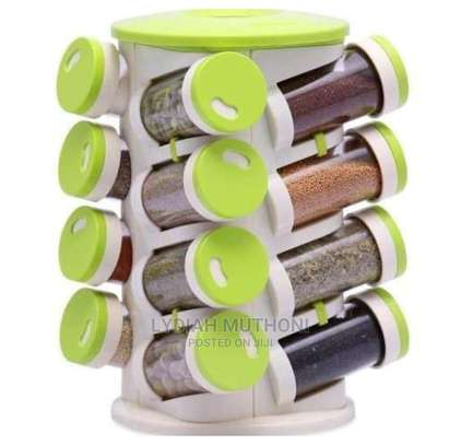 16 in 1 Coloured Rotating Spice Rack image 1