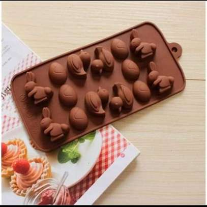 DIY Chocolate Making Mold Cartoon Rabbit Duck Shape Silicone Pudding Moulds image 1