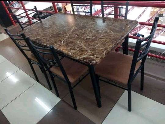 Wooden dining table set image 2