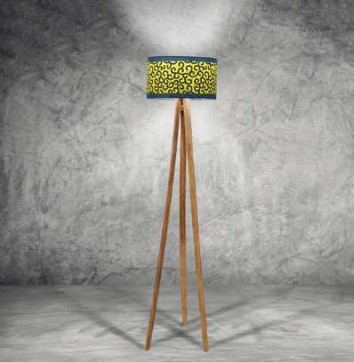 Wood Tripod Floor Lampshade image 2