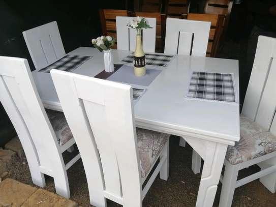 Oval mahogany dining table image 4
