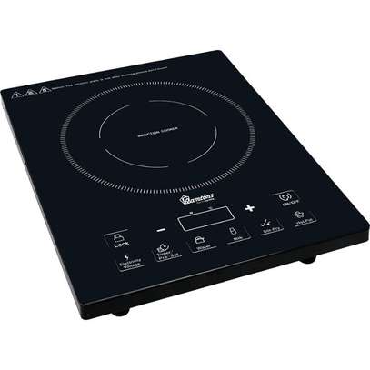 RAMTONS INDUCTION COOKER +FREE NON STICK 24 CM PAN INSIDE BLACK- RM/381 image 1