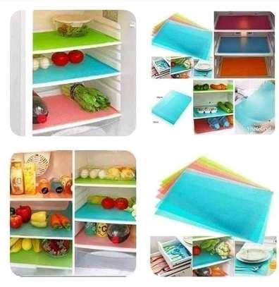 4pcs pvc fridge mats image 1