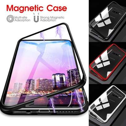 Magnetic Luxury Cases For Samsung S10 S10e S10 Plus With Tempered Back Glass image 8