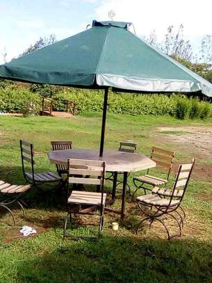 Gardening umbrellas with Chairs