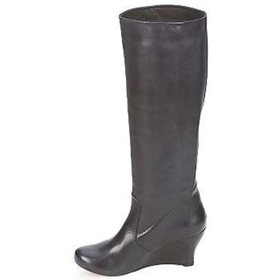 Dune: wedged high knee leather boot (Size #40)