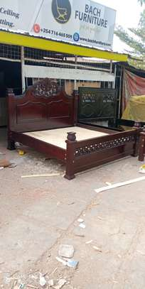 6 by 6 Hardwood Bed image 3