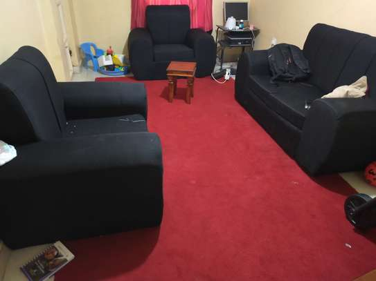 4 seater and wall to wall carpet
